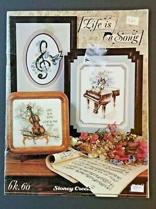 Stoney-Creek-Music-Cross-Stitch-Pattern-Booklet-Life-Is-A-Song-Piano-Etc