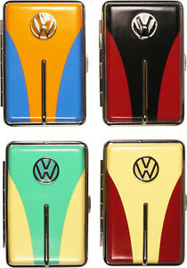 Cigarette Case 12 King Size / VW Trim / Metal/Rubber Band / 2seitig/4 Colours