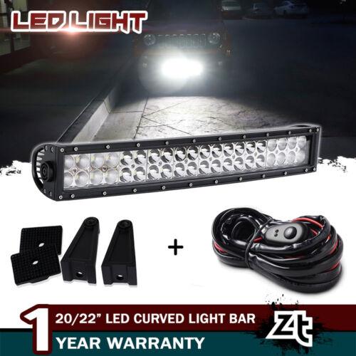 """20//22/"""" Inch Led Curved Light Bar Spot Flood Combo Work Boat UTE Truck SUV ATV"""