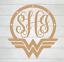 Personalized Wonderwoman Monogram Vinyl Decal Approx 3inchx3 inch
