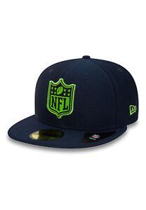 Image is loading New-Era-League-Logo-59Fifty-Cap-Seattle-Seahawks- caa0b93e1