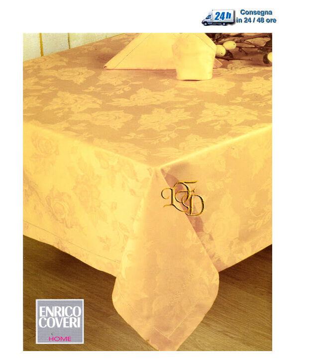 Servizio Tavola x 8 Assisi or Tovaglia + 8 Tovaglioli Fiandra di Cotone Coveri