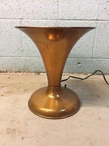 Copper-Vintage-Table-Lamp-Mid-Century-Modern-Art-Deco-Antique
