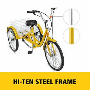 24-039-039-3-Wheel-Adult-Tricycle-Trike-Cruise-Yellow-Shimano-7-SPEED