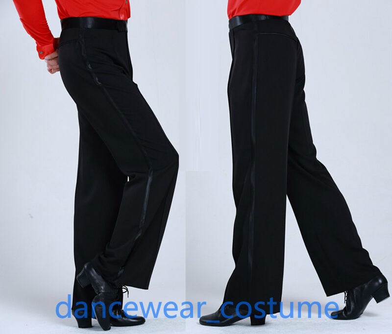 Men's Boys Ballroom Latin Salsa Rhythm Competition Practice Dance Pants Trousers