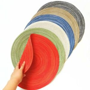 4-8PCS-Round-Cotton-Washable-heat-Insulation-Placemats-Pad-kitchen-Table-mats