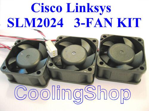3x new Quiet Cisco Linksys SLM2024 Fankit replacement fans for Linksys SLM2024