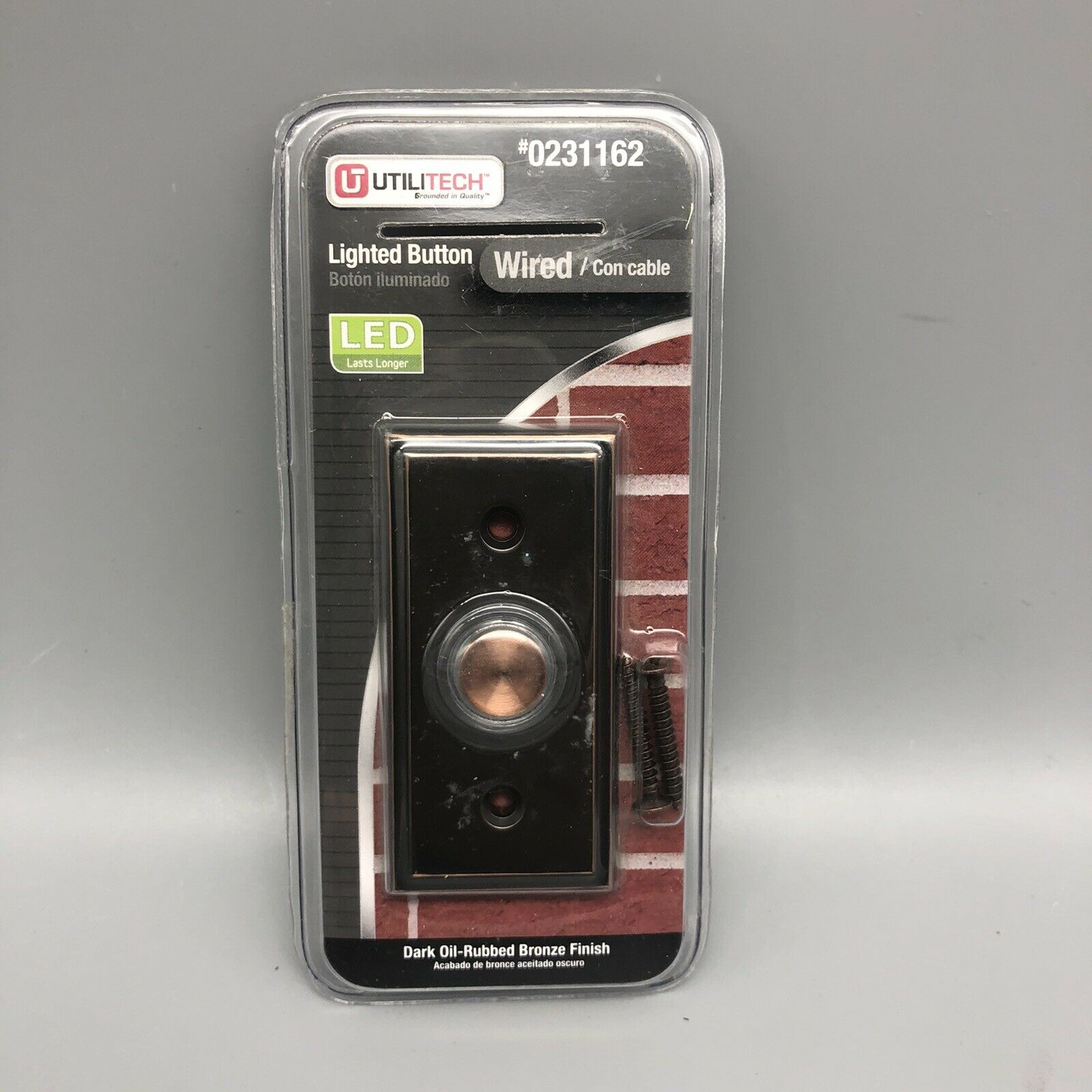 Picture of: Utilitech Led Lighted Doorbell Button Bronze Finish Model 0358558 For Sale Online Ebay