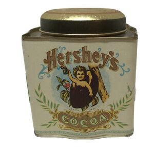 Hersheys-Cocoa-Square-Vintage-Retro-Empty-Tin-Bristolware-1993-Cherub-Cocoa-Bean