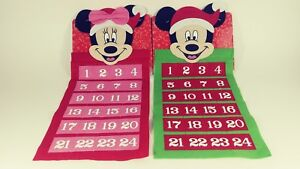 Disney-1-Mickey-Mouse-amp-1-Minnie-Mouse-Felt-Advent-Calendars-New-2-In-All