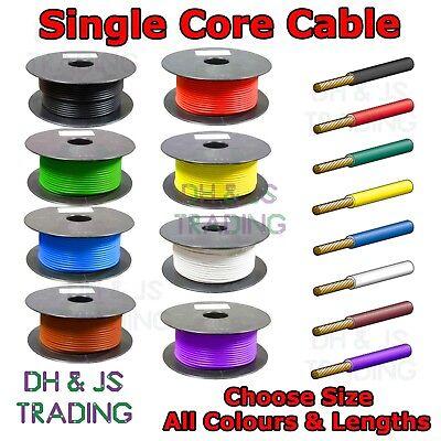 White Single Core Cable 0.65mm 1mm 2mm Automotive Single Core Wire Car Marine