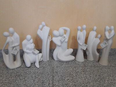 Gilde Deko Figur Skulptur weiß Sculpture Collection Exklusive Manufaktur