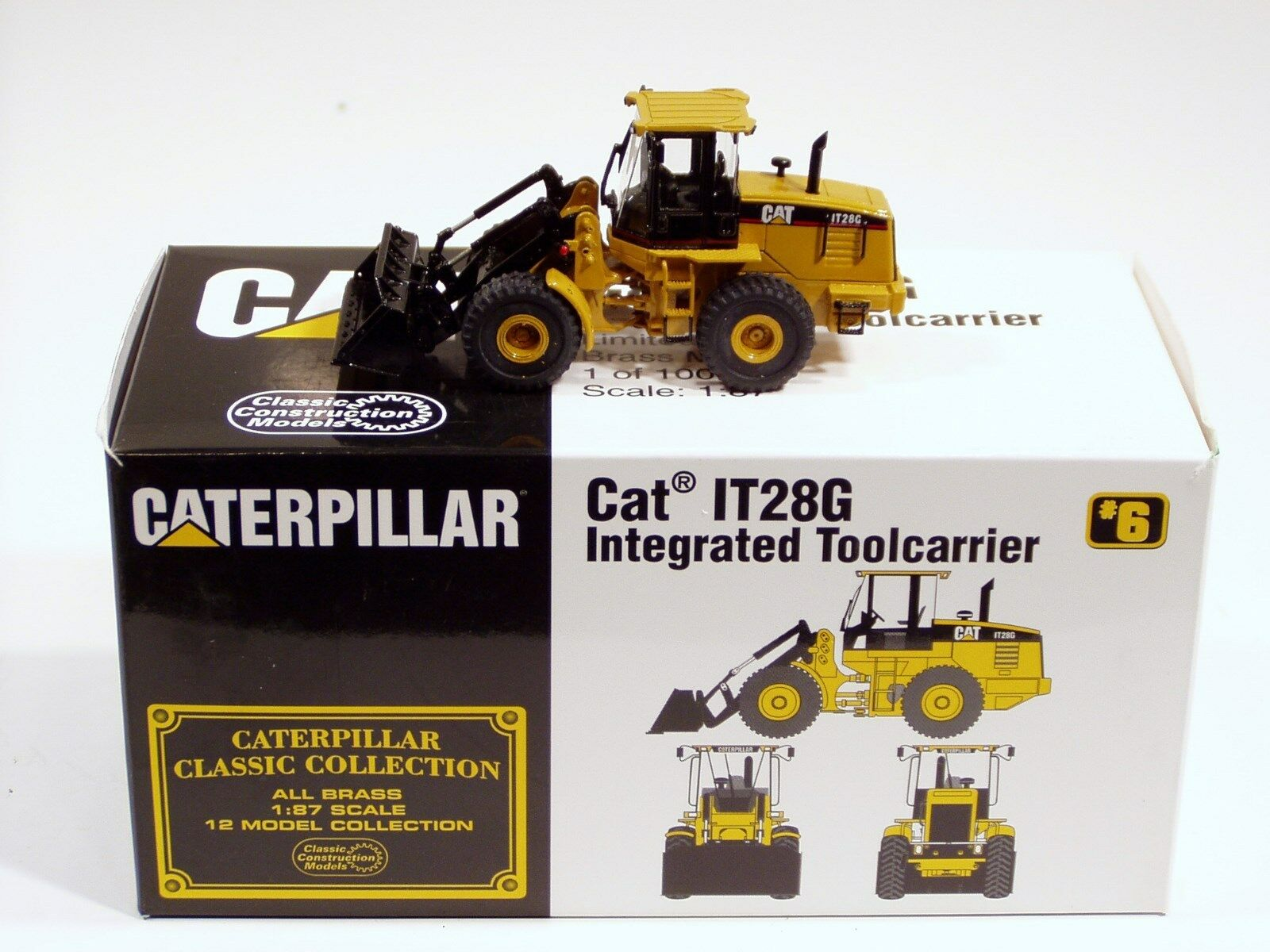 Caterpillar IT28G Loader Loader Loader - 1 87 - Brass - CCM - N.MIB 46e7a2
