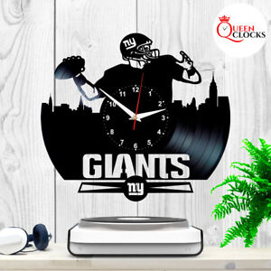 Details About NFL New York Giants NY Logo Football Vinyl Record Wall Clock  Gift Bedroom Decor