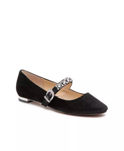 9ed9a3ba96 Adrienne Vittadini Women Aronni Velvet Mary Jane Ballet Flats Sz 6.5 ...