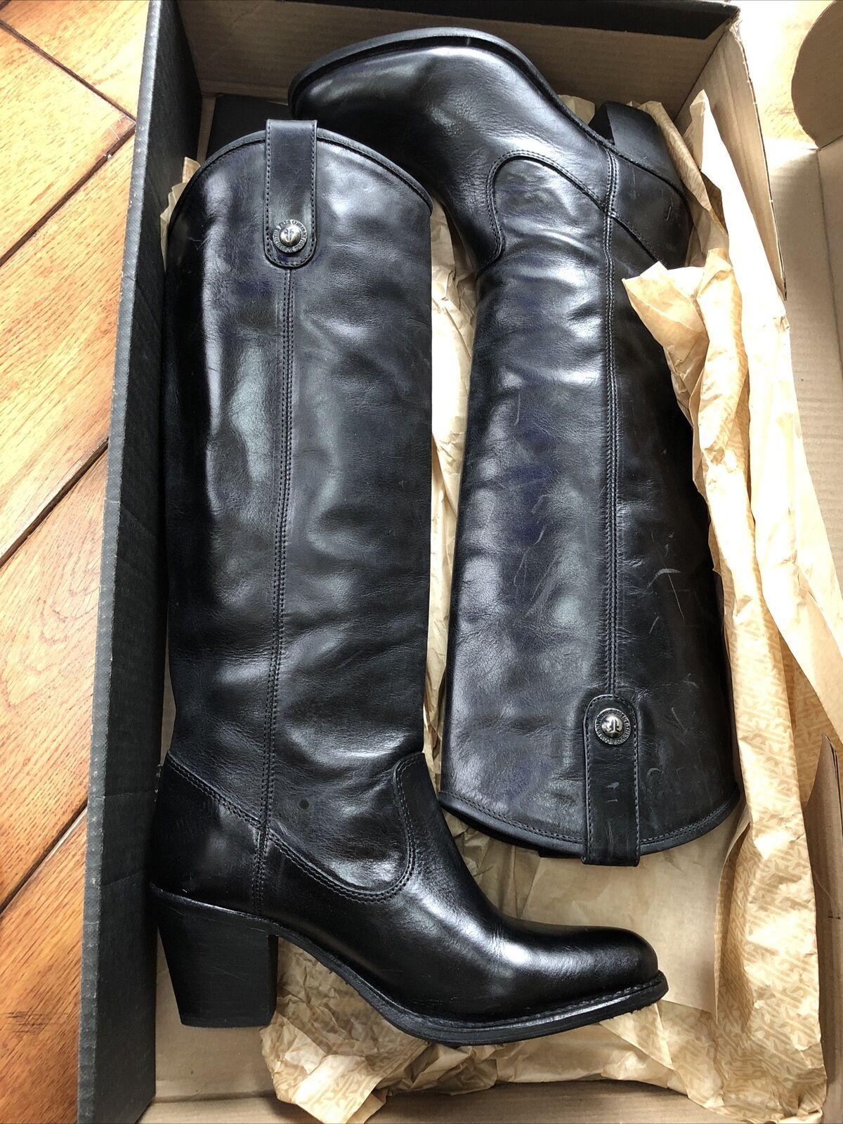 frye jackie button boots Black 8.5 NIB leather Slip On