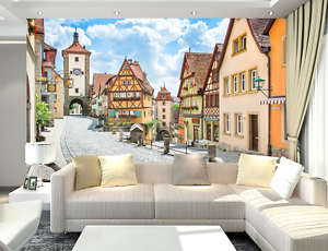 3D Beautiful Town 236 Wall Paper wall Print Decal Wall Deco Wall Indoor Murals