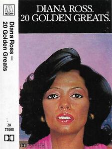 Diana Ross 20 Golden Greats Cassette Album Soul Motown Compilation