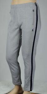 Polo Ralph Lauren Performance Grey Navy Track Pants NWT