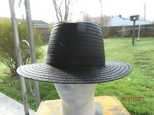 Men's Park Plaza Amish Straw Hat  Black  7/1/2 USA Made
