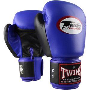 Details zu TWINS Special Boxhandschuhe, Leder, BGVL 3, blau schwarz