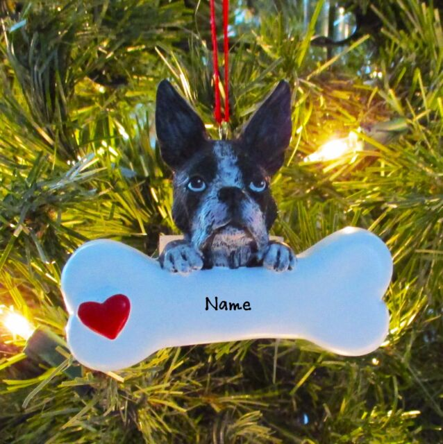 PERSONALIZED DOG Ornament World's Greatest Boston Terrier Christmas Ornament - Rudolph And Me Boston Terrier Ornament EBay