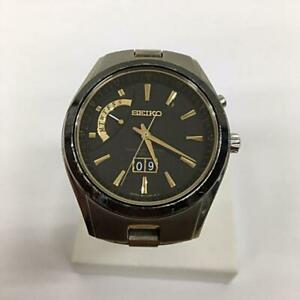 Seiko-8B43-0AB0-Day-Date-Titanium-Japan-Solar-Mens-Watch-Authentic-Working