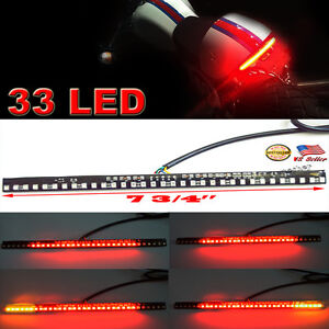 Details about 33led integrated motorcycle light strip tail brake stop light turn signals flash image is loading 33led integrated motorcycle light strip tail brake stop aloadofball Gallery