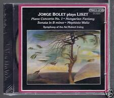 LISZT CD NEW JORGE BOLET PIANO CONCERTO 1/ SONATA IN B/ HUNGARIAN FANTASY