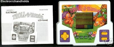 TIGER ELECTRONICS TROLL A MANIA HANDHELD DOLL LCD GAME VINTAGE HAIR DOLL TROLLS