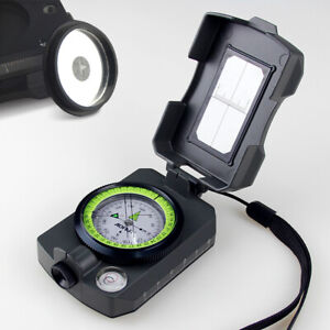AOFAR Military Compass Portable AF-4090 Signal Mirror whistle Waterproof Camping