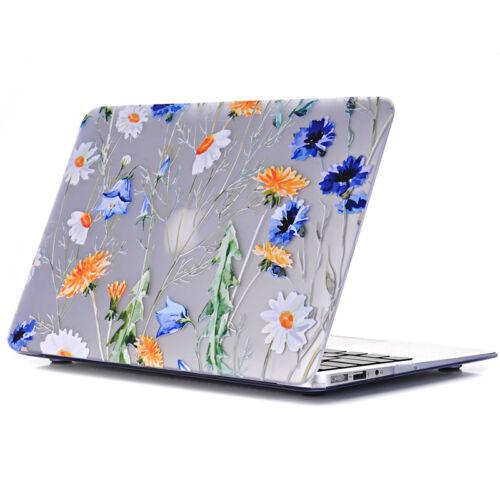 Matte Flower Design Print Hard Case Cover for Macbook Air 13 A1369 A1466