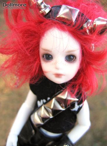 Red Dollmore 1//12BJD OOAK Supplier Mini Wig Banji size Short wig