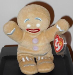 763721234d5 Ty Beanie Baby ~ GINGY the Gingerbread Man (Shrek the Halls DVD ...