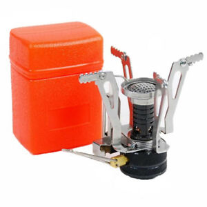 Portable-Outdoor-Picnic-Gas-Burner-Foldable-Camping-Mini-Steel-Stove-Case-New
