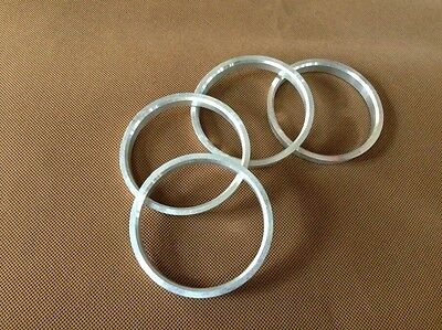 A set of 4pcs Aluminum HUB CENTRIC HUBCENTRIC RING RINGS ID 66.56mm to OD 76mm