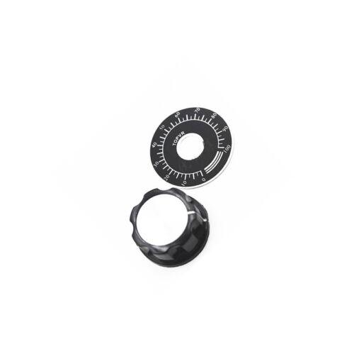2sets NEW MF-A03 Knob Cap 6mm Dia hole for Potentiometer //w Dial  K98