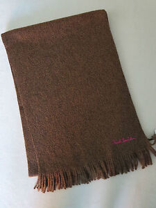 Paul-Smith-scarf-100-Pure-New-Wool-Brown