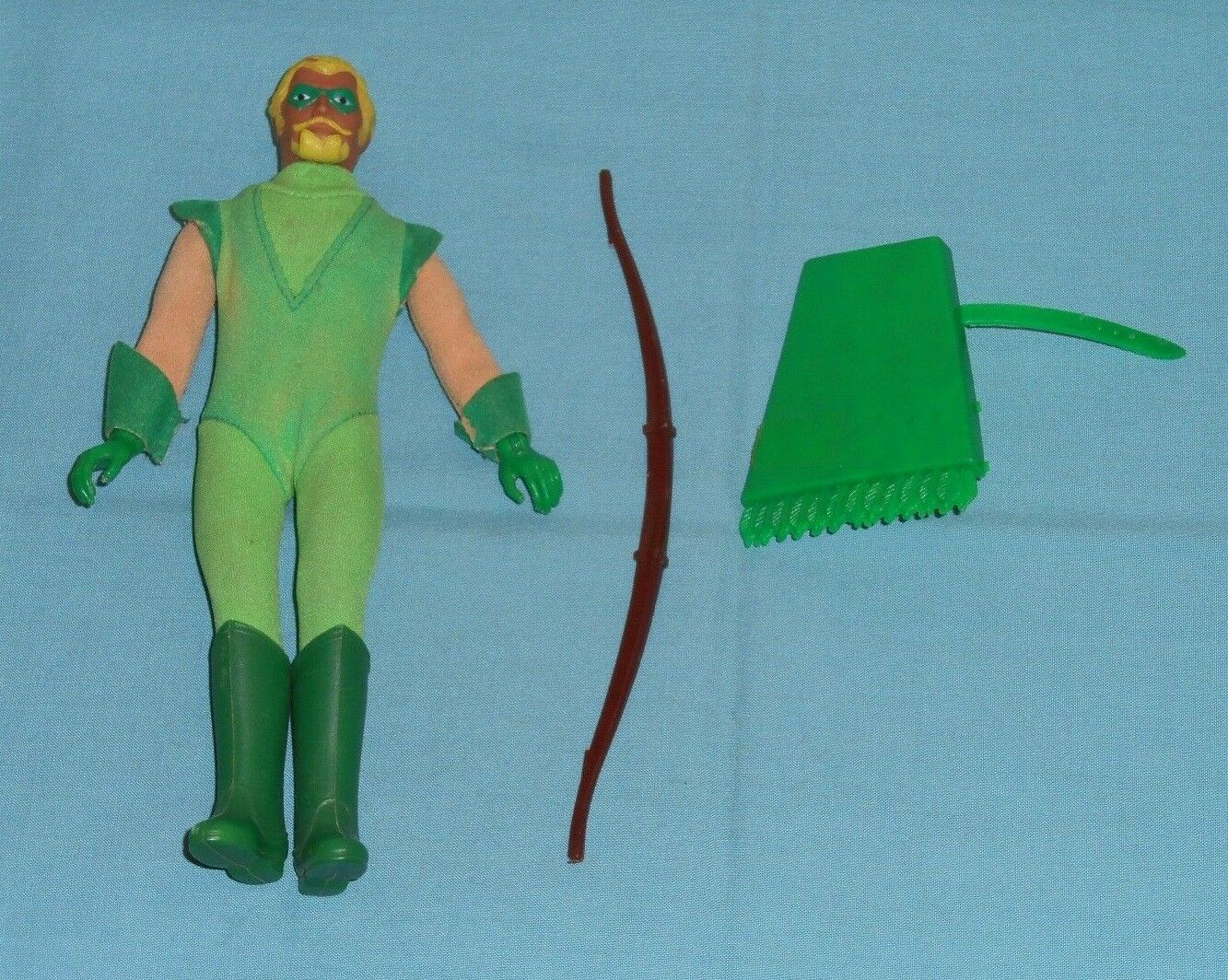 Vintage Mego WORLD'S GREATEST SUPERHEROES WGSH 8 verde ARROW  4 broken weapons