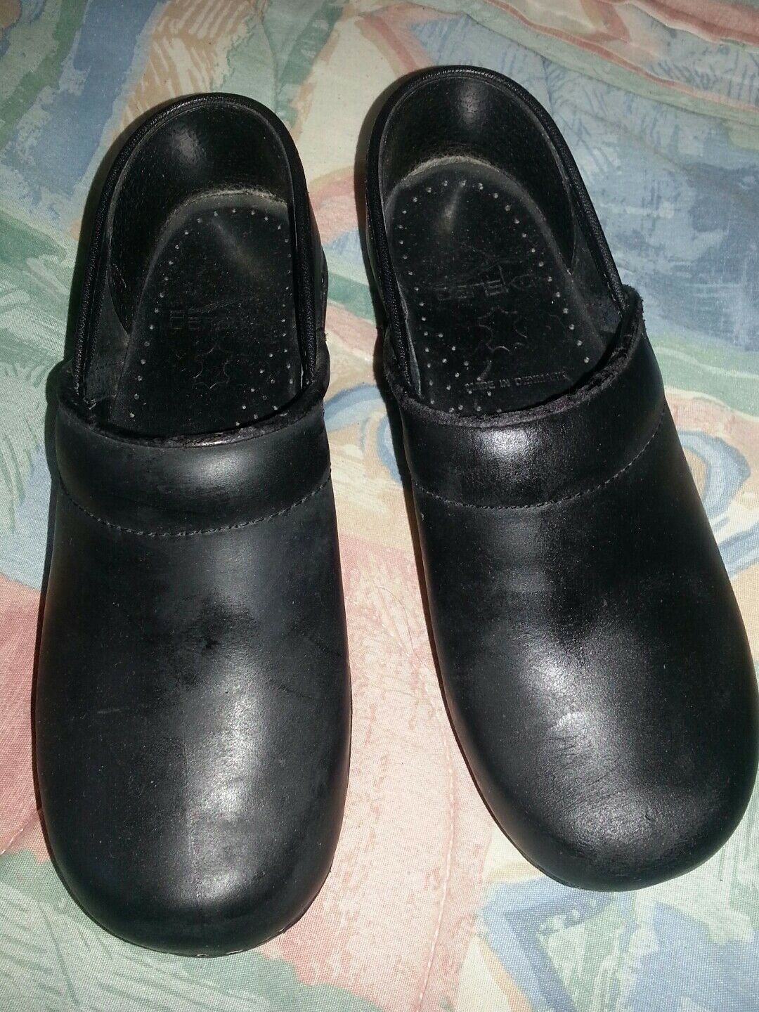 DANSKO PROFESSIONAL CLOGS Cabrio Black. Leather 36 Size 6