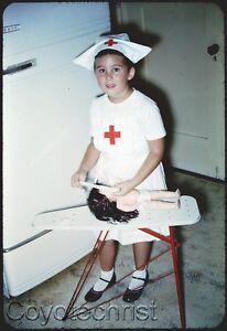2a6f4c5ef1e Details about 2 Orig Slides DOLL HOSPITAL NURSE Little Girl 1950s RED CROSS  Halloween Costume