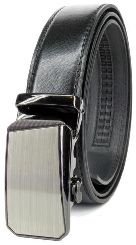 Men Genuine Leather Automatic Ratchet Click Lock Buckle Belt Designer Style:506