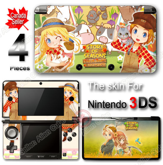 Story of Seasons : Trio of Towns Brand New Skin Sticker Cover for Nintendo 3DS