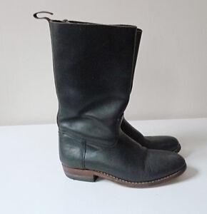 Détails sur bottes cuir noir femme homme taille 41 GO WEST Santiag cowboy