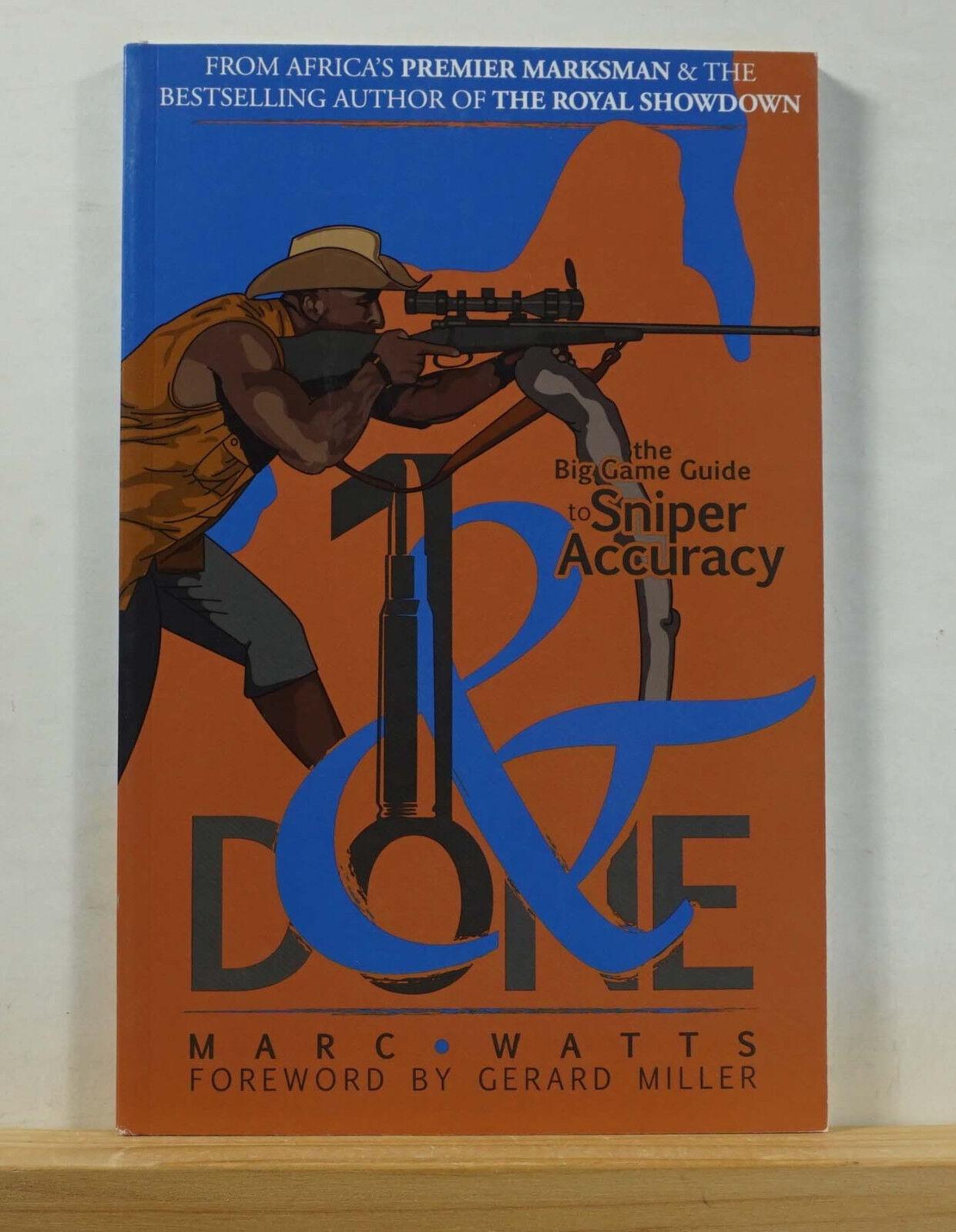 1 y 2009 Marc Watts firmado Grande Done caza rifles de francotirador de precisión de África