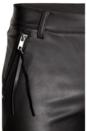 H/&m skinny motociclista Lederhose ECOPELLE faux leather trousers leggings size 36 42