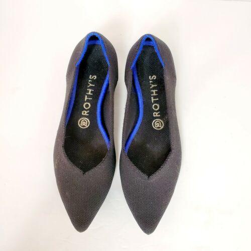 Rothy's black pointed toe flats EUC Womens size 8