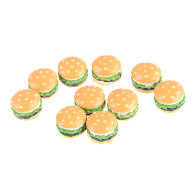 10x 1:12 Dollhouse Food Hamburg Diy Home Miniature Decoration Phone Crafts CA