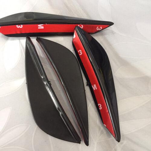 4Pcs For Front Lip Bumper Splitter Fins Body Spoiler Canard Valence Chin Array