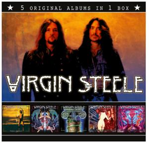 Virgin Steele - 5 Original Albums + Bonustracks in CD Box Cardboardsleeve NEU